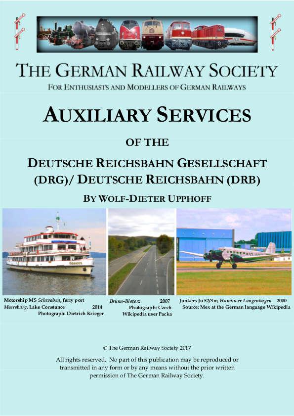 Auxiliary services of the Deutsche Reichsbahn Gesellschaft