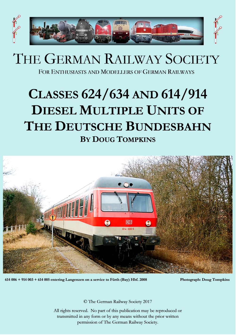 Cover image: Classes 624/634 and 614/914 diesel multiple units of the Deutsche Bundesbahn