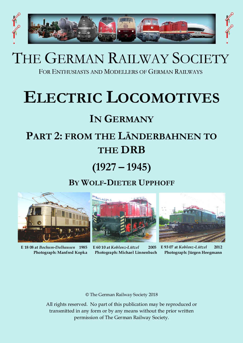 Cover image: Electric locomotives in Germany. <br>Part 2: from the Länderbahnen to the DRB (1927-1945)